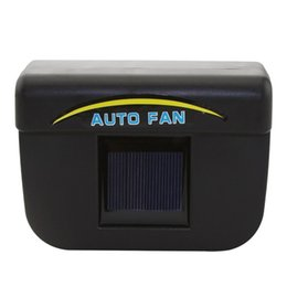 Chinese  TOYL 1W Solar Powered Window Fan Ventilator Auto Cool Air Vent For Car Vehicle Black manufacturers