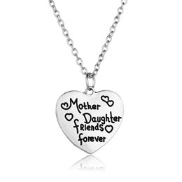 necklaces best friend forever UK - mother and daugher friends forever Necklace Heart Pendants keychains for women Family Best Friends Jewelry Mother's Day Gift