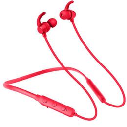 Wireless Headphones Mic Blue UK - Waterproof Handsfree Bluetooth Headset Wireless Stereo Earphone With Mic Ultralight Headphone Earloop Earbuds For Pad iPhone Andorid Phone
