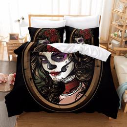 $enCountryForm.capitalKeyWord NZ - Halloween 3D Pattern Zombie Bride Bedding Set Horror Rose Comforter Bedding Sets Duvet Cover Set Personalise Home Textiles F