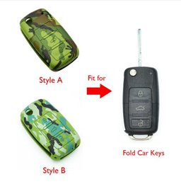 vw passat key silicone NZ - Silicone Car Key Case Cover for VW Volkswagen Golf 4 5 6 Bora Jetta POLO Passat B5 B6 Skoda Superb Octavia Fabia SEAT Ibiza Leon