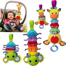 Hanging rattle online shopping - animal musical developmental toy bed stroller baby soft toys baby car around hanging bell rattle toys