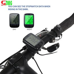 Bicycle Backlight online shopping - Sunding SD B Waterproof LCD Display Cycling Bike Bicycle Computer Odometer Speedometer with Green Backlight Hot sale
