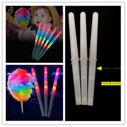 Glow candy online shopping - Colorful LED Cotton Candy Sticks Glow Light up Floss Stick for Christmas Birthday Party Prop Flashing Sticks