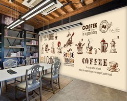 bakery kitchen NZ - custom stereo coffee wallpaper modern minimalist large mural restaurant cafe bakery personality TV backdrop wallpaper mural