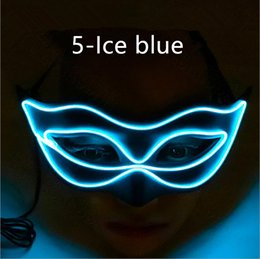 Fox Costumes For Halloween Australia - 100pcs DHL ship Princess sexy half face LED Glow mask Halloween party fox beauty flash costume party