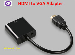 $enCountryForm.capitalKeyWord Canada - Black High Quality HDMI to VGA Converter Adapter Cable With 3.5mm Audio Cable for PC to HDTV Projecteor +USB Power Line Male to Female NO1