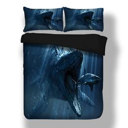 $enCountryForm.capitalKeyWord Canada - shark Dinosaur design twin king queen full double bedclothes pillowcase duvet cover set bedding set