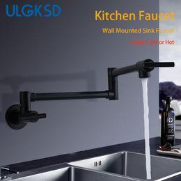 wall mount bathroom sinks 2019 - ULGKSD Kitchen  Bathroom Sink Faucet Single Cold Or Hot Single Handle Wall Mounted Faucets Para Kitchen or Bath Washing
