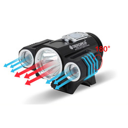 lamp cycle Australia - LED Lamp Bicycle Front Light USB T6 X3 180 Degree Adjustable MTB Cycling FlashLight Bike Headlight Y1892809