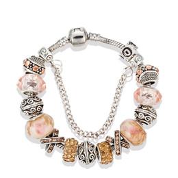 Christmas Pandora Bracelet Australia - 17 18 19 20 21cm pandora snap jewelry fashion silver charm bracelets for women diy crystal beads pandora bracelet wholesale