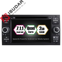Discount 2g mp3 player Android 7.1.1 Two Din 7 Inch Car DVD Player For Ford Mondeo Focus Transit C-MAX S-MAX Fiesta RAM 2G GPS Navigation Radio