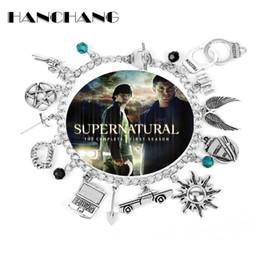 $enCountryForm.capitalKeyWord UK - Supernatural Inspired Bracelets for Women Dean Winchester Jewelry Charms Pendants Bangles Bracelet Gothic Chain Wristbands