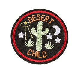 Wholesale embroidered children patches for sale - Group buy 6CM Sew Iron On Embroidery Patch Cactus Desert Child Patches Embroidered Badges For Bag Jeans Hat T Shirt DIY Appliques Craft Decoration