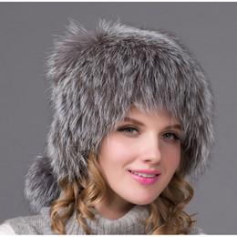 ae7ea93e1e4 Discount russian fur hats female - Hot 2018 autumn and winter fox leather ear  hat woman