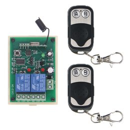 Chinese  DC 12V 24V 2 CH 2CH RF Wireless Remote Control Switch System,315 433 MHz,2X Metal Frame Transmitters +Receiver,Momentary manufacturers