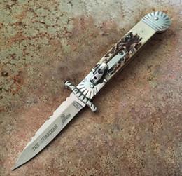 $enCountryForm.capitalKeyWord UK - Best Hubertus Solingen Guardian Auto Folding Knife edge Auto knife Edge Antler Handle Action Pocket Flolding Camping Push knife Cutter tool