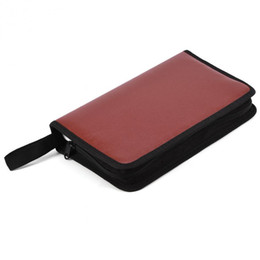 dvd cases storage NZ - 80 Disc Large Capacity Portable CD DVD Case PC driver disc PU Leather Wallet Storage Cover Box Case