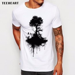 19ec8bf0e 2017 Men's Wild Ink Tree And Crow T Shirt Summer High Quality Custom  Printed T-Shirt Fashion Hipster Tee Tops La769