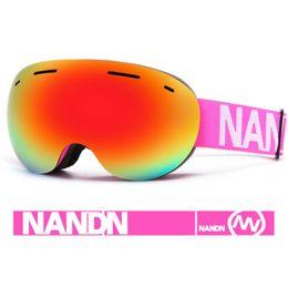 $enCountryForm.capitalKeyWord Canada - NANDN Ski Goggles Double Layers UV400 Anti-fog Big Ski Mask Glasses Skiing Men Women Snow Snowboard Goggles With Original Box