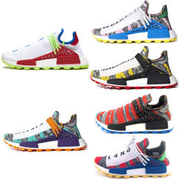 ee2e5eb63e74 Hot sale NERD human race Hu trail x pharrell williams men running shoes  Solar Pack Afro Holi Canvas mens trainers women sports sneakers