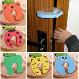 Discount door corners - 5pcs Kids Baby Cartoon Animal Jammers Stop Edge Corner Children Door Stopper Guards Holder Lock Safety Finger Protector