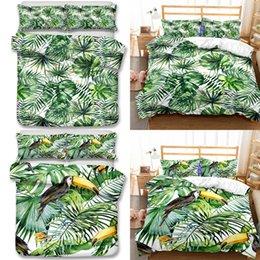 Commercio all'ingrosso - Green Grass Pattern Bedding Set 3pcs Copripiumino Copripiumino Lenzuola Imposta tutto il formato in Offerta