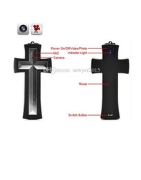 Mini necklace caMera online shopping - 8GB Cross necklace camera wearable cross pendant camera portable pendant pinhole camera Camcorder Mini pinhole Cameras in retail box
