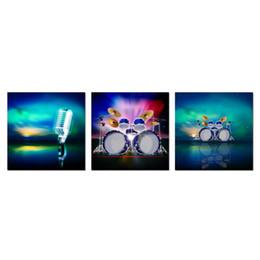 Music Canvas Prints Australia - Unframed Music Pictures Canvas Wall Art Aurora Landscape Painting Picture Canvas Prints Polar Lights Decor