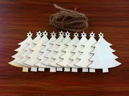 $enCountryForm.capitalKeyWord Canada - 10pcs Wooden Trees for Hanging Christmas Tree Blank Decorations Gift Tag Shapes Xmas Tree Decor