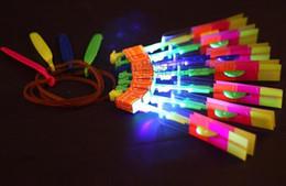 $enCountryForm.capitalKeyWord Australia - Amazing Flashing Led Arrow Rocket Helicopter Rotating Flying Toys Light Up For Kids Party Decoration Gift