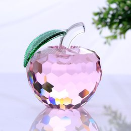 $enCountryForm.capitalKeyWord NZ - 40mm pink crystal apple paperweight glass paperweight pretty gifts crafts art&collection christmas home wedding gifts decor