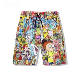 Yx Girl Casual Unisex Rick And Morty Mens Summer Casual Shorts Cartoon 3d Print Loose Shorts Men's Clothing