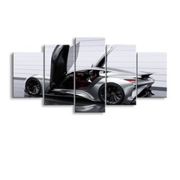 Art Canvas Prints Australia - 5 pieces high-definition print car canvas oil painting poster and wall art living room picture C5-2
