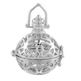 $enCountryForm.capitalKeyWord Australia - LASPERAL DIY Pregnancy Jewelry 1PC Pendant Hollow Magic Wish Box Bola Openable Bell Pendant Silver Tone For Necklace & Bracelet