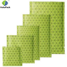 $enCountryForm.capitalKeyWord Australia - Many Sizes Green  Silver  Green Heat Sealable Package Flat Black Pattern Prism Aluminum Foil Mylar Open Top Bags