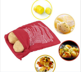 $enCountryForm.capitalKeyWord NZ - 10pcs Microwave Potato Bags Cooker Bag Baked Potato Bags Washable Reusable Microwave Oven Potato Baking Bag Cooking Quick Fast Red C015