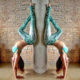 $enCountryForm.capitalKeyWord Canada - Women High Waist Yoga Pants Legging Printing Push Up Slim Woman Pant Leggings For Fitness Legency Spor Tayt Polyester Tracksuits