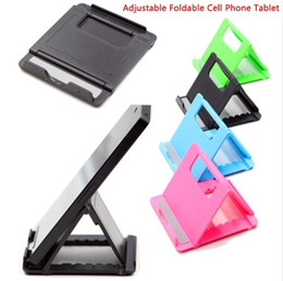 Foldable Desk Stand For Tablets Australia - New Adjustable Foldable Cell Phone Tablet Desk Stand Holder Smartphone Mobile Phone Bracket for iPad Samsung iPhone LLFA