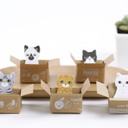 Cat stiCky notes online shopping - Cartoon Sticky Notes Post It Bookmark Kawaii Carton Cat Memo Pad School Office Stationery Supplies mh C R