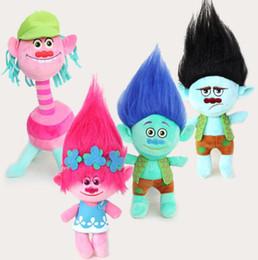 trolls plush 2019 - High quality Movies Trolls 23cm Plush Toys 4 modes Bobby Blanche H Anime Figure Dolls As Kids Gift Cotton Soft Cartoon d