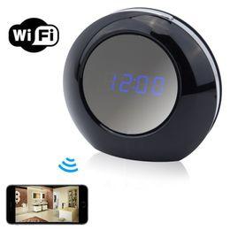$enCountryForm.capitalKeyWord NZ - HD 1080 Alarm Clock Wifi Netwoork Camera Desk Clock Mini Camera Indoor Mini Camcorder Nanny Cam Wireless Security Camera for Home Office