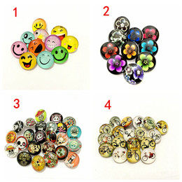 mix sale 18mm snap button Canada - New Sale Rushed Hook Wholesale 30pcs lot 18mm Diy Ginger Snap Glass Button Mixed Style Noosa Chunk Charm Bracelet Jewelry Necklace Bracelets