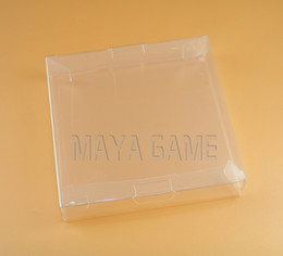 Discount plastic cartridge cases Clear transparent for Gameboy Advanve Color Game Cartridge box Protector Case CIB games plastic PET for GBA GBC