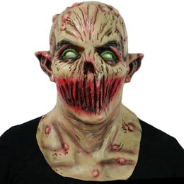 face mask pattern UK - Hanzi_masks Halloween Monster Zombie Mask Scary Adult Latex Costume Party Horror Face Mask Full Head Vampire Cosplay Mask Masquerade Props