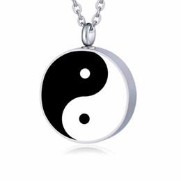 $enCountryForm.capitalKeyWord UK - Fashion jewelry fine Yin Yang Holder Urn Pendant Memorial Ashes Keepsake Necklace stainless steel Cremation Jewelry for ashes