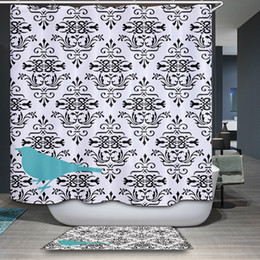 $enCountryForm.capitalKeyWord Canada - New arrival Nordic rural Simple modern Geometry Pattern Customized Shower Curtain Waterproof Bathroom Fabric Shower Curtain