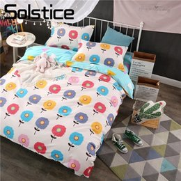 Beautiful Modern Bedding Australia - Solstice Home Textile Beautiful Flower Pattern Print Fashion Lively Warm Kid Child Bedding Sets Duvet Cover Pillowcase Bed Sheet
