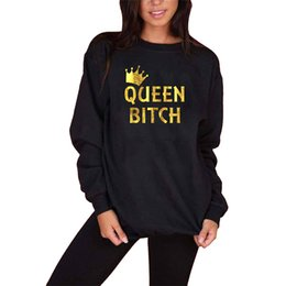 Discount red heart queen - Trust No Bitch Queen of Hearts red sweatshirt classic artwork Ms. Alice Character sports fashion large size S-XL