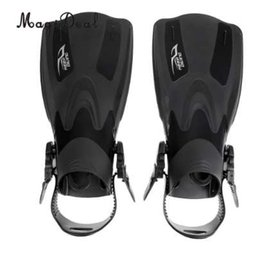 $enCountryForm.capitalKeyWord NZ - MagiDeal Swim Fins for Adult Adjustable Swimming Frog Shoes Rubber Professional Dive Team Open Diving Snorkeling Flippers Black